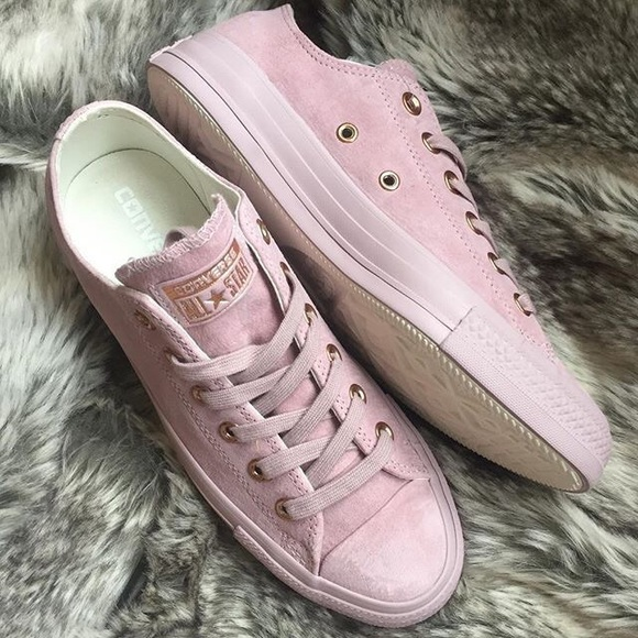 a4261753bb1d2a Converse Shoes - Lilac rose gold suede brand new converse sz 8
